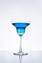 Cool drink blue cocktail with lighting and reflrction Stock Image