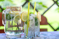 Cool drink in the garden Royalty Free Stock Photo
