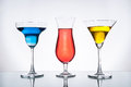 Cool drink multicolor of with lighting and reflection Royalty Free Stock Image