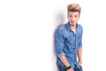 Cool dude in casual jeans clothes Royalty Free Stock Photo
