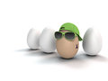 Cool easter egg with tattoo funny and bunny Royalty Free Stock Image
