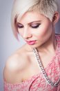 Cool Fashion Girl in Pink Royalty Free Stock Photo