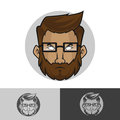 Cool geek logo template