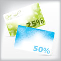 Cool gift cards with discounts Royalty Free Stock Photo