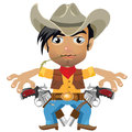 Cool guy, fictional character in wild West style Royalty Free Stock Photo