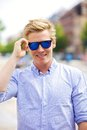 Cool Guy with His Shades On Royalty Free Stock Image