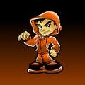 Cool guy rap hip hop graffiti character