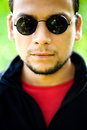 Cool guy wearing sunglasses Royalty Free Stock Photo