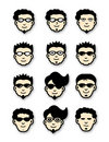 Cool Head Icons Royalty Free Stock Photo