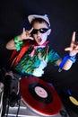 Cool kid DJ Royalty Free Stock Photo