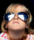 Cool kid with sunglasses Stock Photos