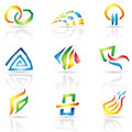 Cool Lines Abstract Icons Stock Photography