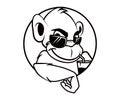 Cool monkey sunglasses emblem