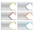 Cool new business card set Royalty Free Stock Photo