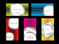 Cool new business card set 3 Royalty Free Stock Photo