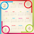 Cool new calendar with arrow ribbons design circleing Stock Photos
