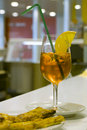 Cool orange aperitif Royalty Free Stock Photos