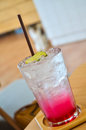 Cool pink lemon soda menu Royalty Free Stock Photo