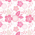 Cool pink repeating floral pattern seamless pattern swatch included file Stock Images