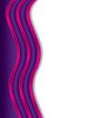 Cool pink waves white purple background Royalty Free Stock Photography