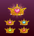Cool princess crowns set.