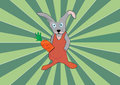 Cool rabbit green sunshine background Royalty Free Stock Photo