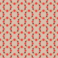 Cool red blossom circles pattern illustration Royalty Free Stock Image