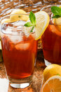 Cool, Refreshing Iced Tea Stock Photo