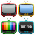 Cool Retro Television Set Stock Photo