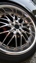 Cool rims nice looking on a sports car Royalty Free Stock Photo