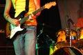 Cool rocker playing guitar Royalty Free Stock Photo