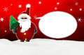 Cool santa claus comic with sunglasses balloon winter snow red Royalty Free Stock Image