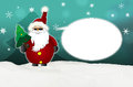 Cool santa claus comic with sunglasses balloon winter snow turquoise Stock Images