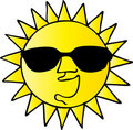 Cool Sun Royalty Free Stock Photo