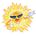 Cool Sun character Royalty Free Stock Photography