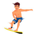 Cool surfer. Sports concept