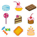 Cool sweets icons Royalty Free Stock Images
