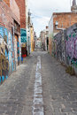Cool urban lane way melbourne laneway inner city suburb Stock Image