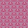 Cool violet checked pattern illustration Stock Photo