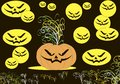Cool wallpaper on the day of halloween vector Royalty Free Stock Images