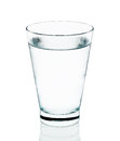 Cool water with glass isolated on the white background Royalty Free Stock Photo