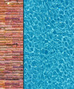Cool water in swimming pool Royalty Free Stock Photo