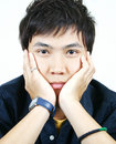 Cool young asian guy Royalty Free Stock Photography