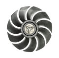 Cooler fan blades radiator isolated on white background Stock Image