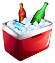 A cooler with softdrinks