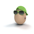 Coolest easter egg funny and cool with bunny tattoo Stock Photo