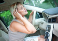 Cooling in the car Royalty Free Stock Photography