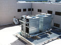 Cooling tower for a large office building Stock Image
