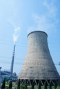 Cooling tower of nuclear power plant Stock Images