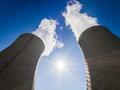 Cooling towers of nuclear power plant Stock Photography